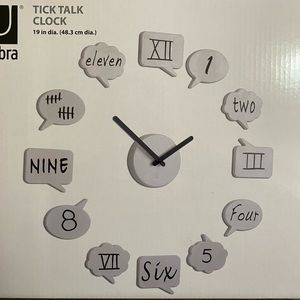 Umbra Tick Talk Wall Clock Dry Erase Speech Bubble